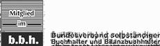 b.b.h. Bundesverband selbständiger Buchhalter und Bilanzbuchhalter e. V. - Logo